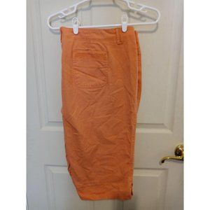 Gloria Vanderbilt orange stretch skimmer shorts 24